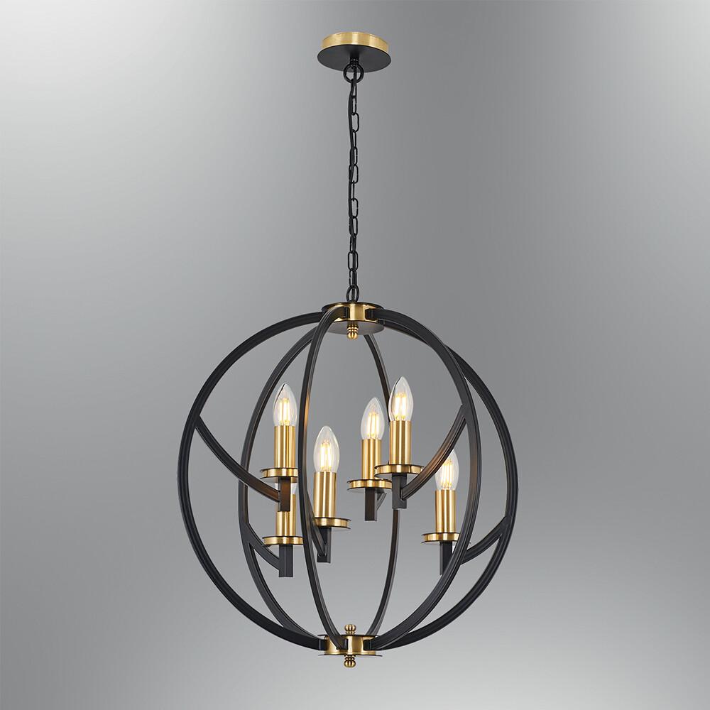taverna E14 6 light chandelier