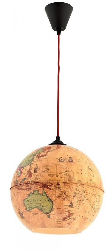 weiss globe pendant luminaire 1xE14 lights