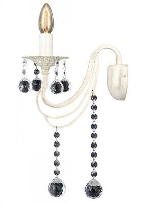 ceylan crystal wall lamp 1xE14 light