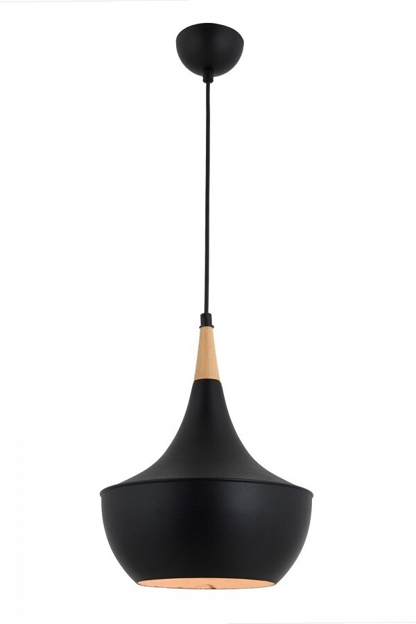 schwarz pendant luminaire 1xE27