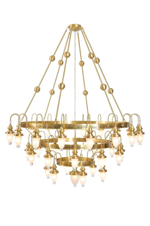 zaha kairo golden pendant luminaire 37xE27