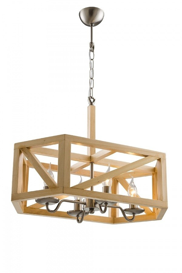 virola rory wooden pendant luminaire 3xE14