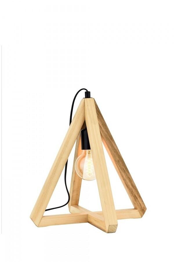 wenge triangular table lamb 1xE27