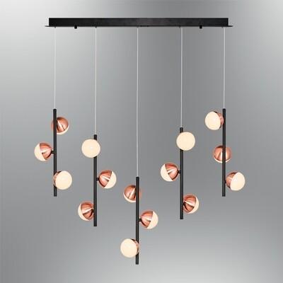le palline 15 linear LED pendant luminaire