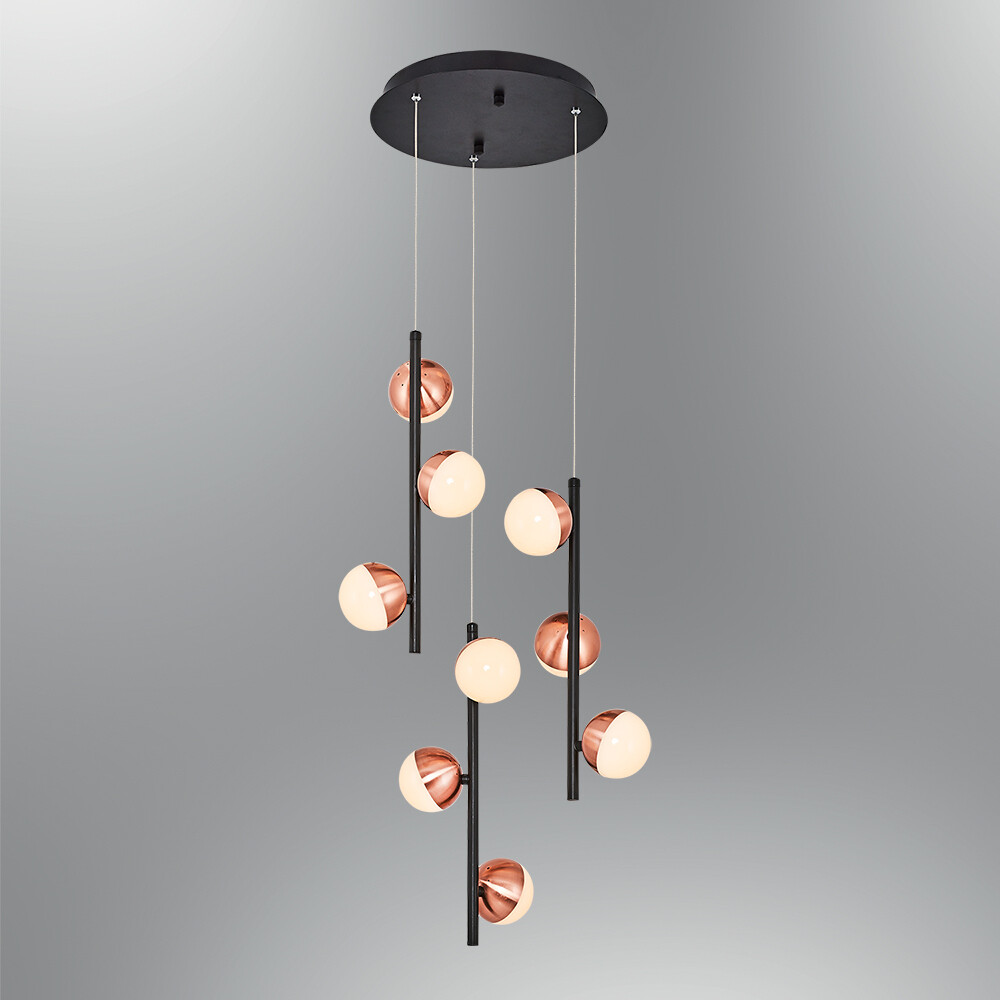 le palline round 9 LED pendant luminaire