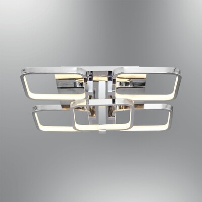 tetragono 5 LED ceiling luminaire polished chrome