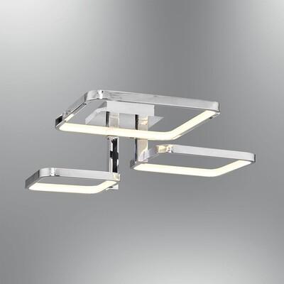 tetragono 3 LED ceiling light polished chrome