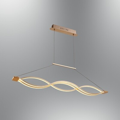 aspica 3 LED pendant luminaire rosegold