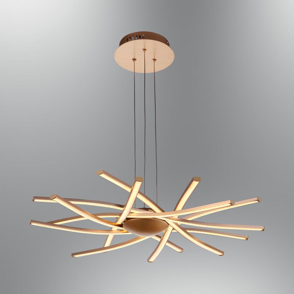 aspica LED pendant luminaire rosegold