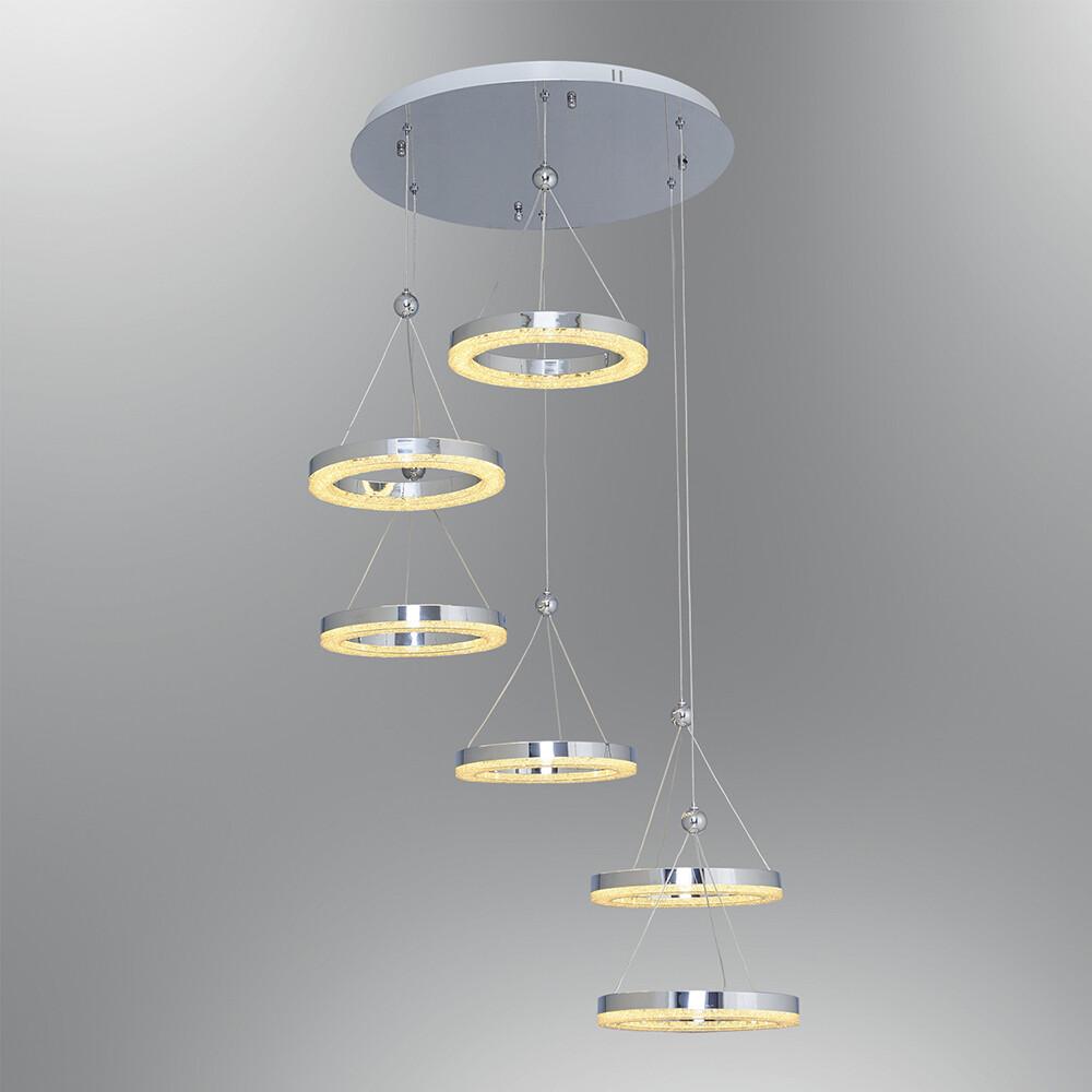 crystalis 6 LED pendant luminaire