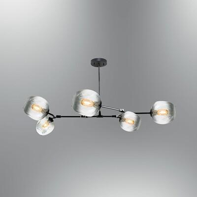 elision 5xE27 LED ceiling luminaire