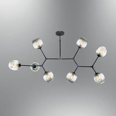 elision 8xE27 LED ceiling luminaire