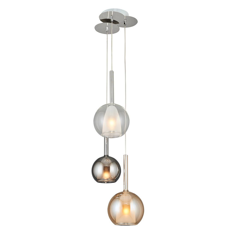perline 3xE14 pendant luminaire mixed color