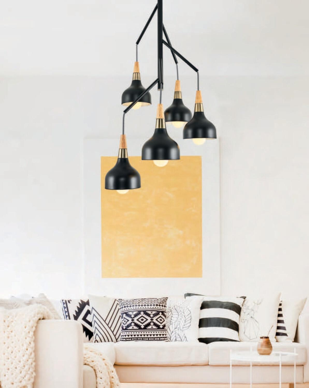mantti 5 x E27 ceiling light