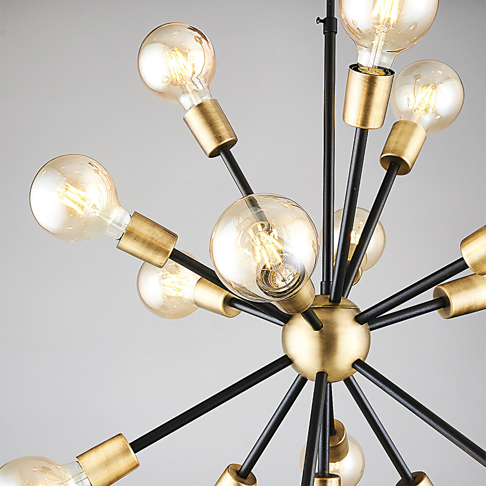 dandelia E27 16 light chandelier