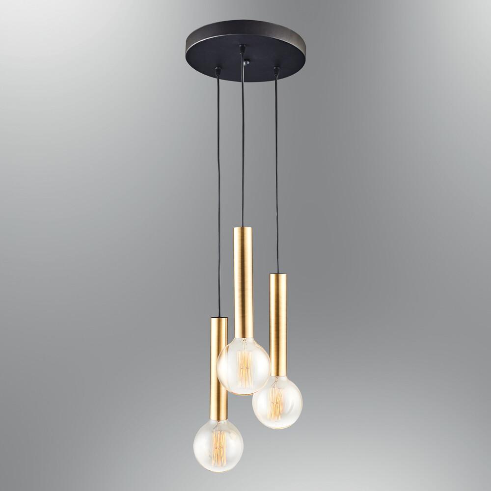 cony triple on round base pendant luminiare included led filament bulb Ø95 2700K 8W