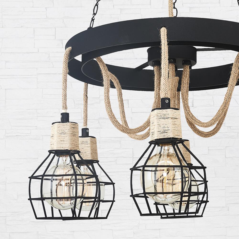 castello E27 6 light chandelier