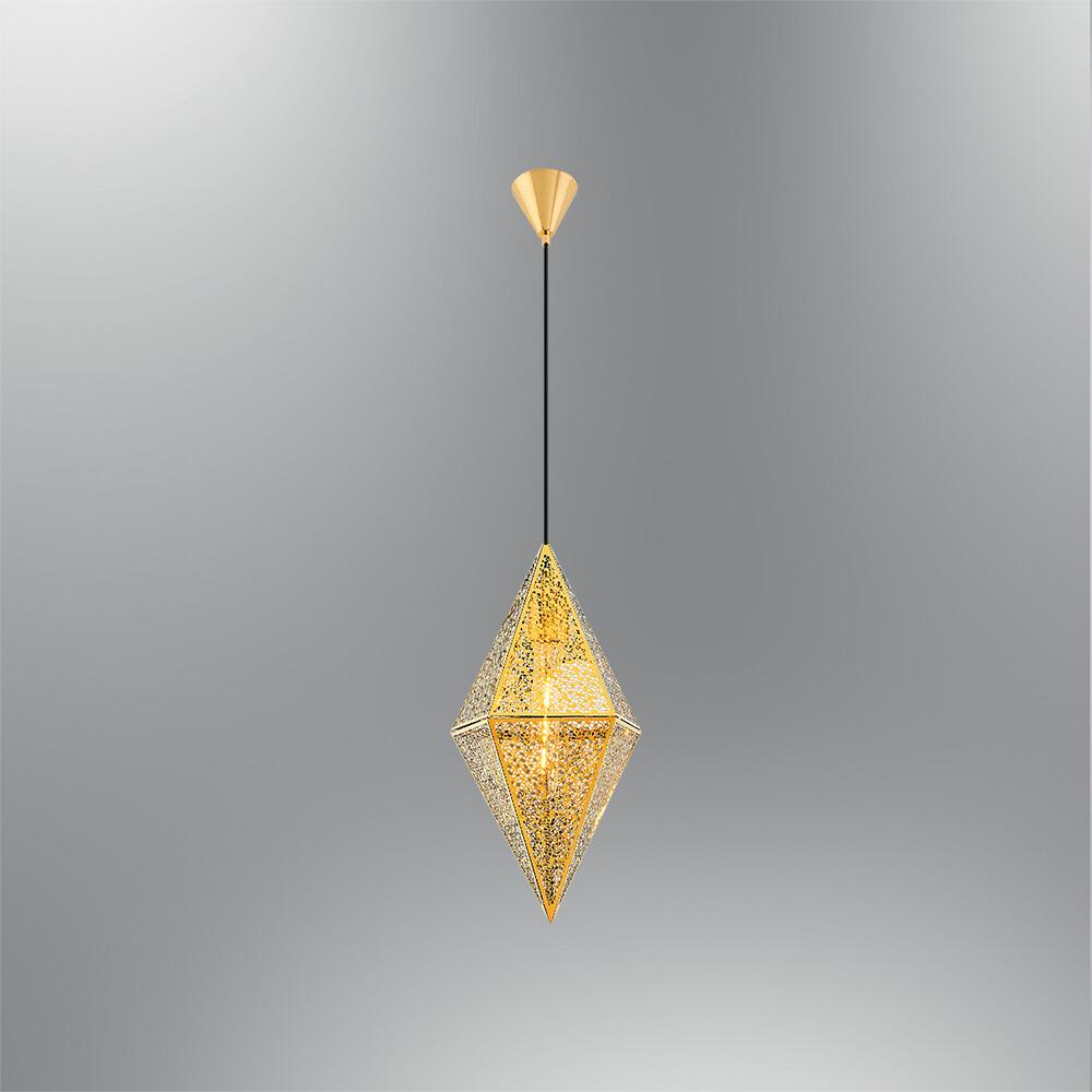 clio shine gold pendant luminaire