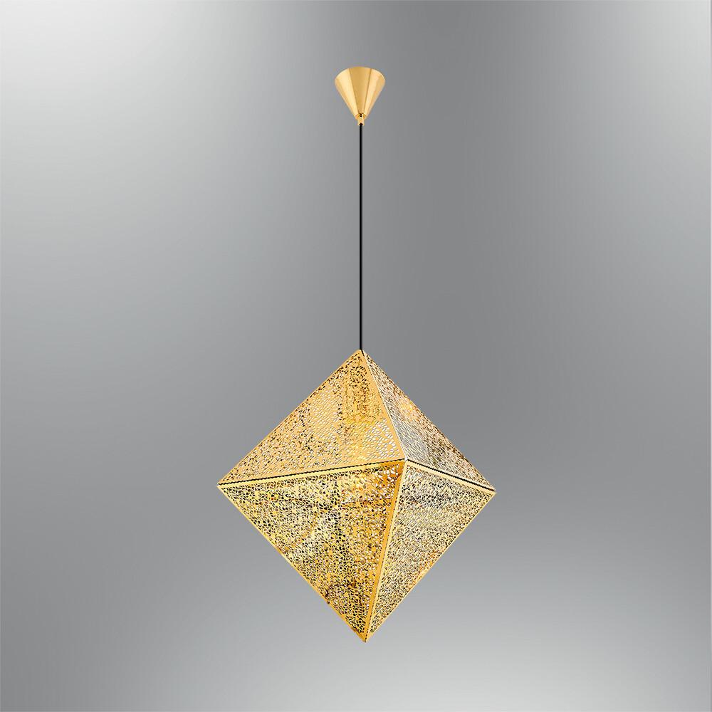 iris shine gold pendant luminaire