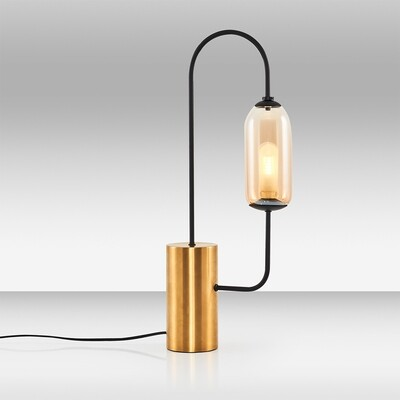 kiara once table lamp antique brass black