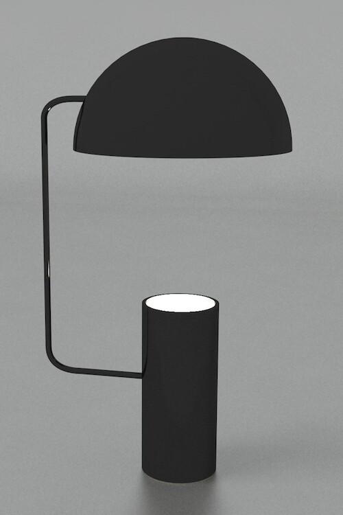 Maniglia modern table Table for 1xGU10 black