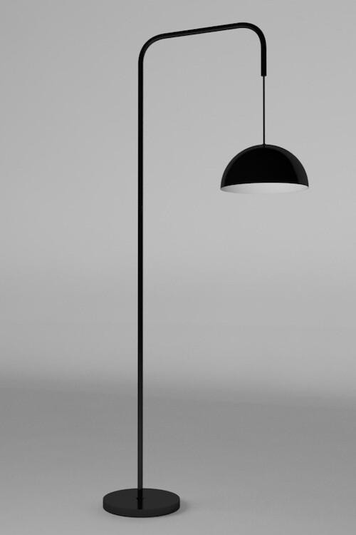 Maniglia modern Floor lamp for 1xE27 black