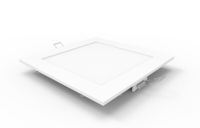 Intego Recessed Ecovision, 170x170mm, Square, 12W LED