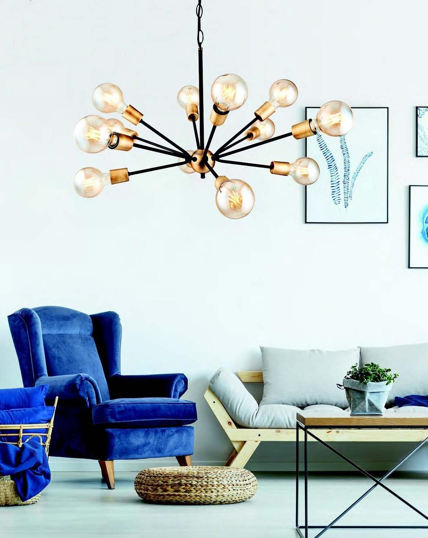 dandelia E27 12 light chandelier