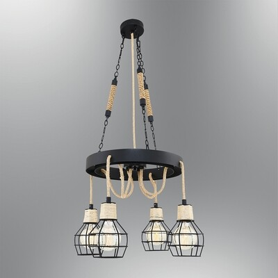 castello E27 4 light pendant luminaire