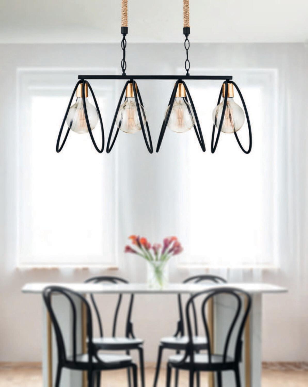 astracan E27 4 light chandelier