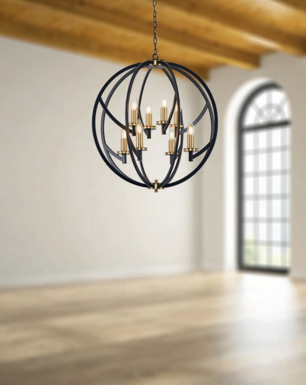 taverna E14 8 light chandelier
