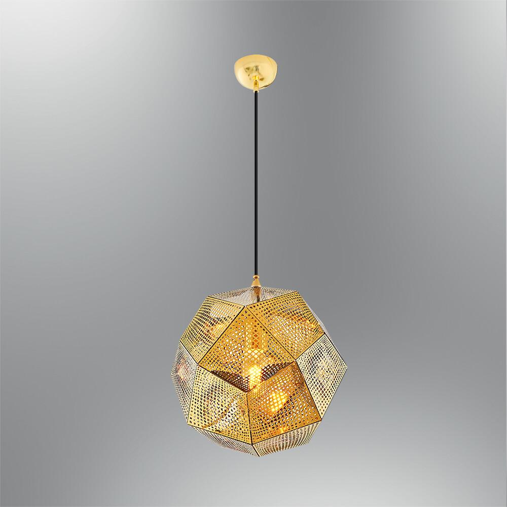 rhea midi shine gold pendant luminaire