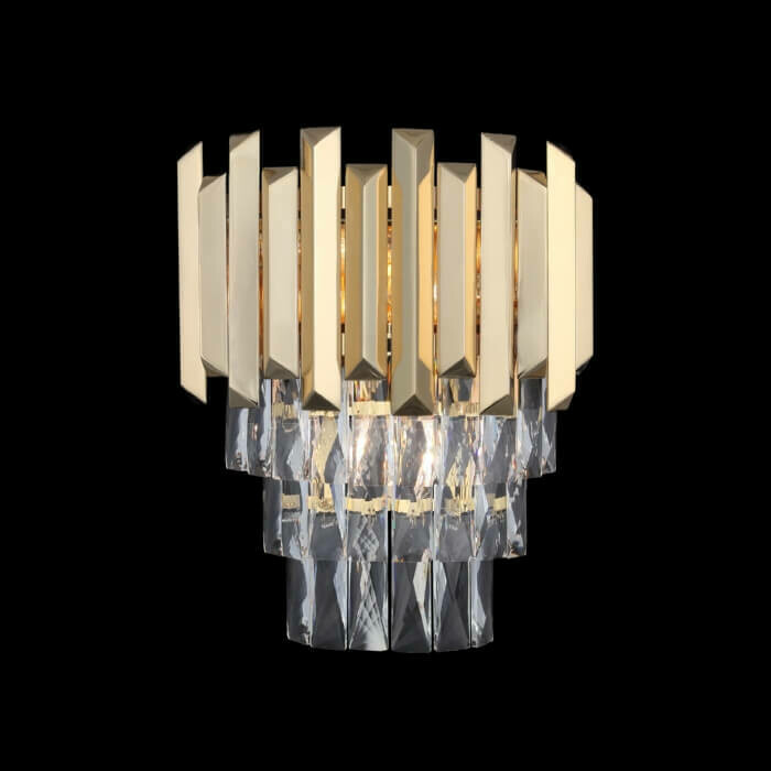 NARBONNE 3 LIGHT WALL LAMP GOLD COLOR 3xE14