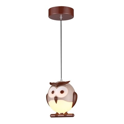 OWL pendant children lamp 1xE14