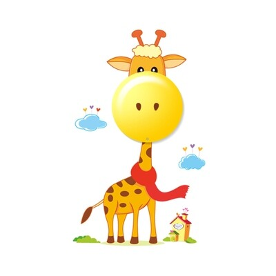 GIRAFFE children night wall light 0.6W LED (3xAAA battery operated)