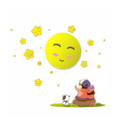 SUN children night wall light 0.6W LED (3xAAA battery operated)