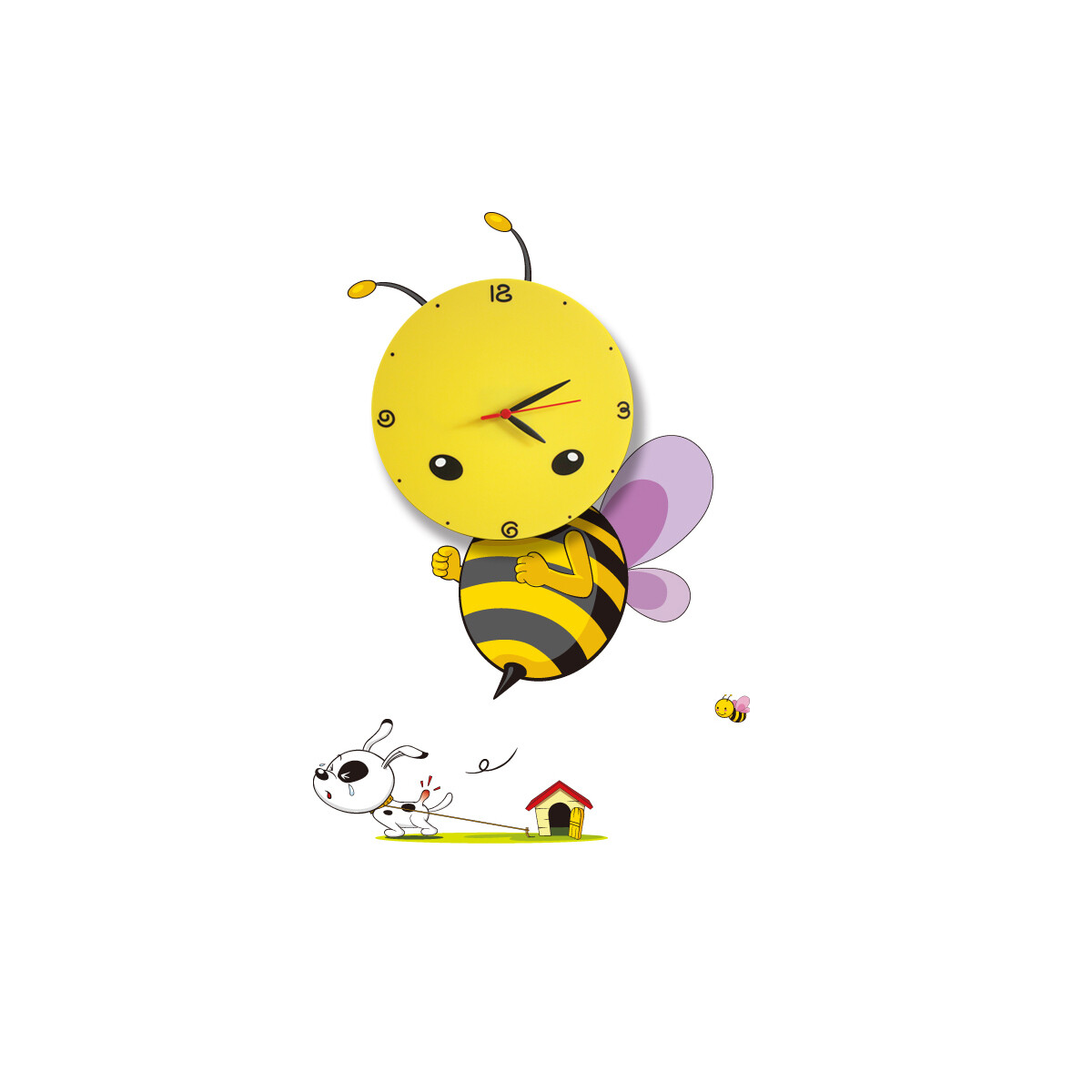 children BEE LED clock 0.6W (3xAAA battery operated)