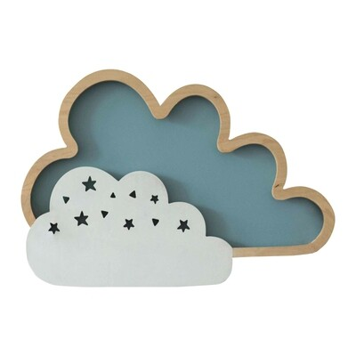 CLOUD children LED natural wood wall lamp 8W 400lm 3000K