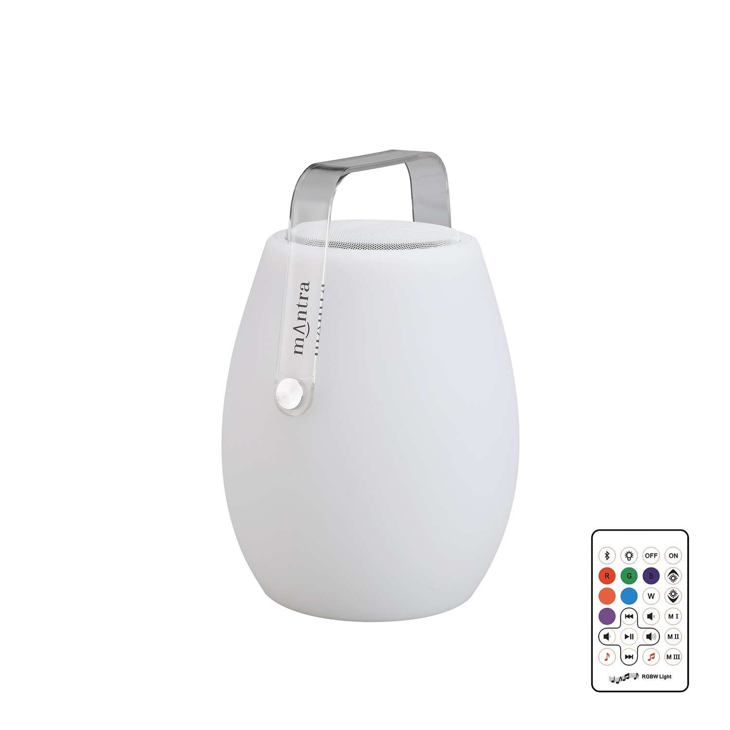 Barrel IP44 Portable 3W Speaker, 120lm, 3W LED RGBW Lamp Bluetooth Connection/Remote Control