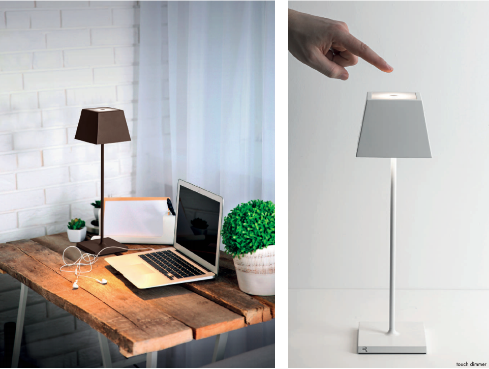 SIESTA LED table lamp (2700K), portable and rechargeable