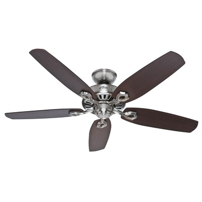 HUNTER BUILDER ELITE ceiling fan 5 blades Ø132cm with pull chain