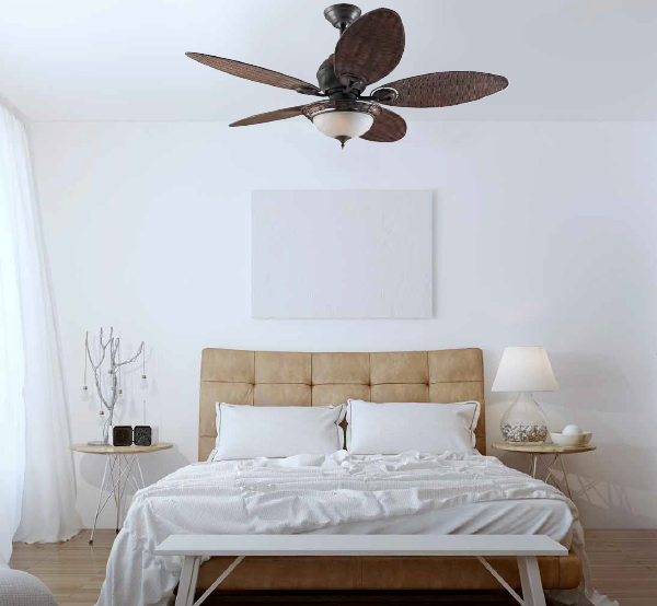 HUNTER CARIBBEAN BREEZE ceiling fan Ø137cm with light kit included with Pull Chain
