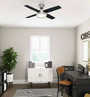 HUNTER DANTE ceiling fan Ø112 with Light Kit and Remote Control included
