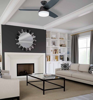 HUNTER GALILEO ceiling fan Ø122  with Light Kit and Wall Control included