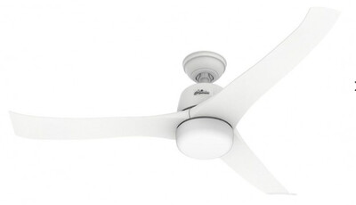 HUNTER HARMONY ceiling fan Ø137 with Integrated Luminaire and Remote Control