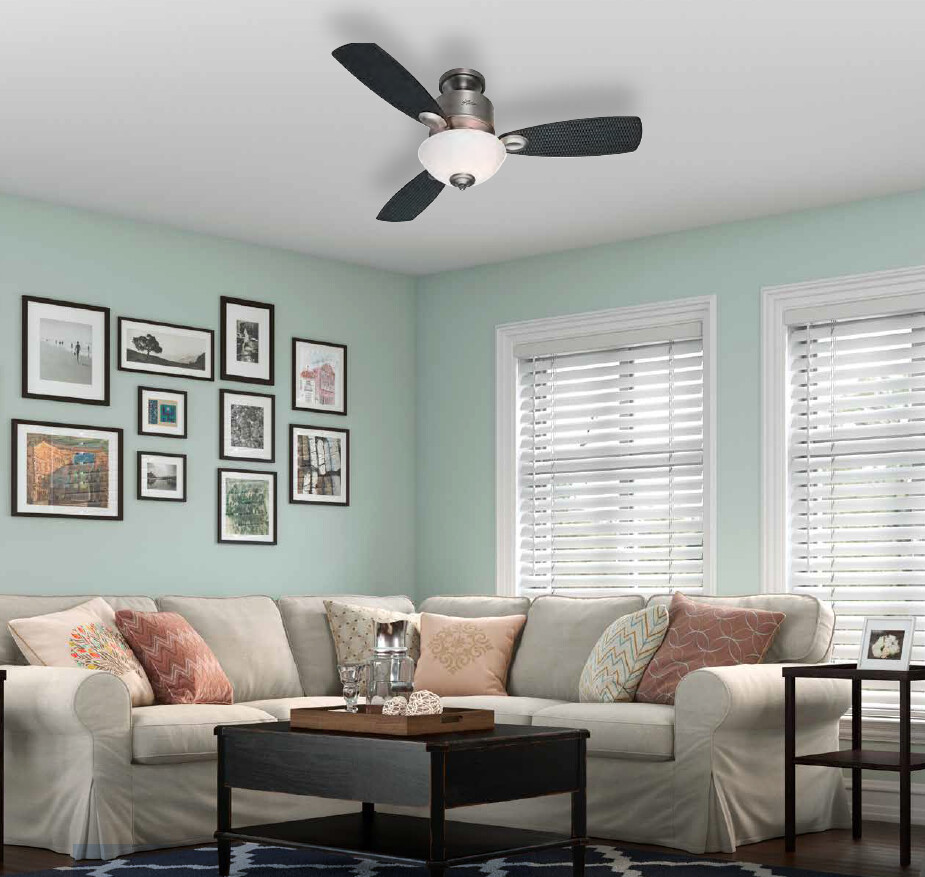 HUNTER KOHALA BAY ceiling fan Ø122cm with Light Kit included with Pull Chain