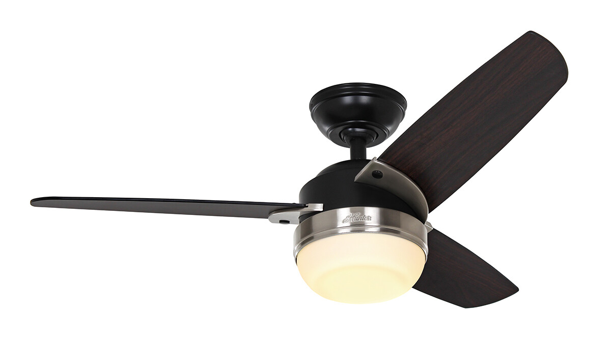 HUNTER NOVA ceiling fan Ø107  with light kit and wall control included