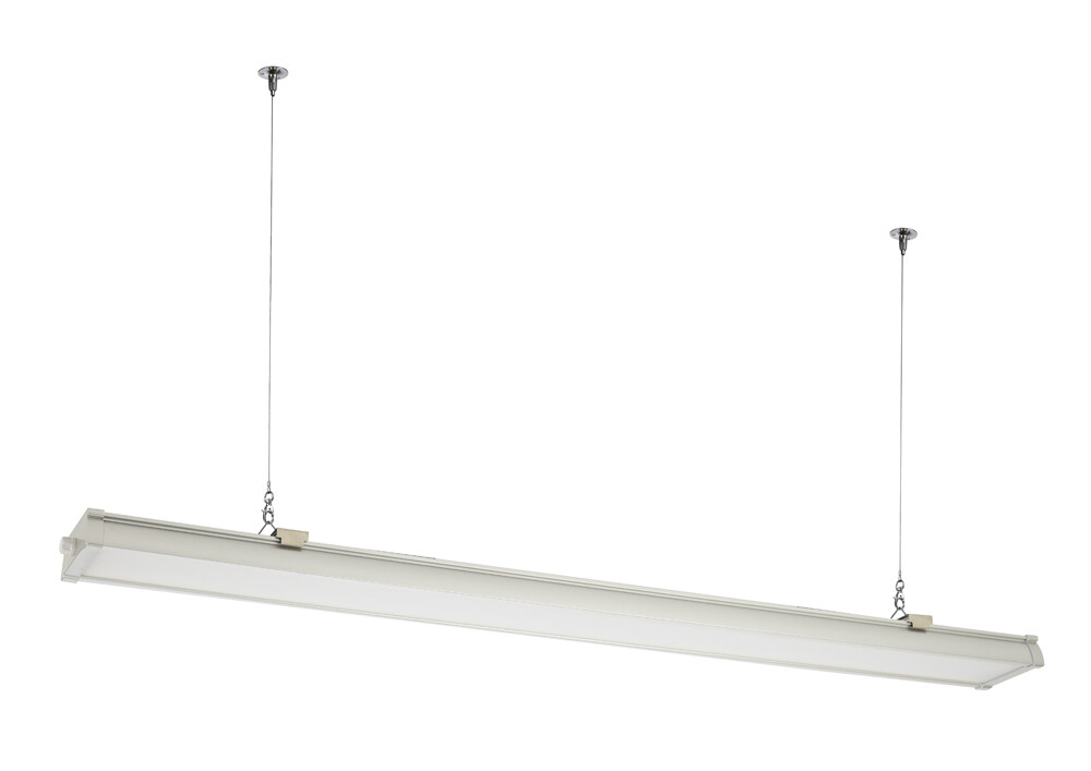 Indi P40 White 1500mm 60W Pendant IP65 Tri-Proof Luminaire, 6000lm