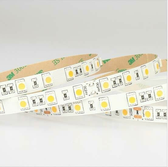 LED strip light 24V 14.4W/m 60 LED's/m IP20 by iglux (Spain)