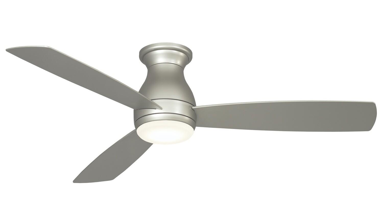 Indoor/Outdoor Ceiling fan HUGH WET BN Ø132 light integrated wall control included